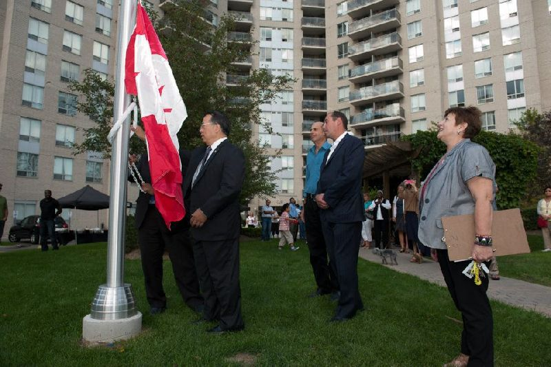 121 Parkway Forest - flag raising (3)