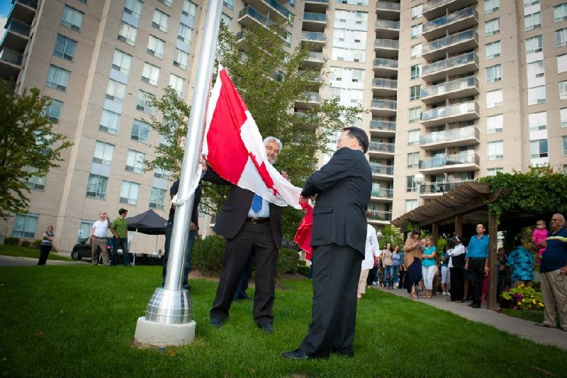 121 Parkway Forest - flag raising (8)