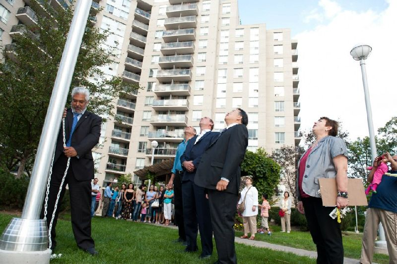 121 Parkway Forest - flag raising (9)
